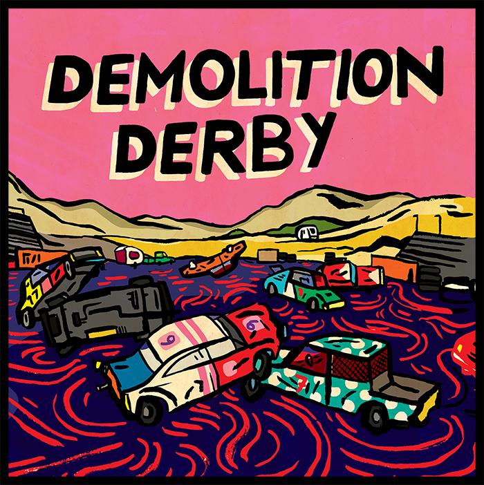 Demolition Derby, album art by Bernardo P. Carvalho